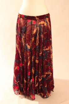Belly dance printed skirt - horizon of reds
