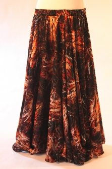 Belly dance printed skirt - chocolate desire