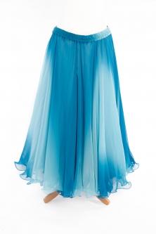Belly dance printed skirt - blue skies