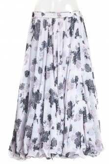 Belly dance printed skirt - noir posies