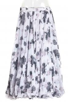 Belly dance printed skirt - noir posies