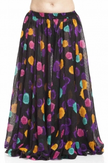 Belly dance printed skirt - lively leaves