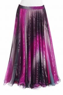 Belly dance printed skirt - metallic swirl