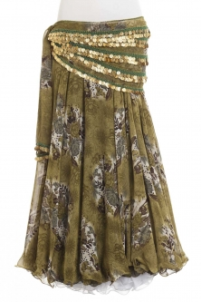 Belly dance printed skirt - camo bloom