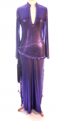 Belly dance sa'idi dress/galabia - Purple Princess