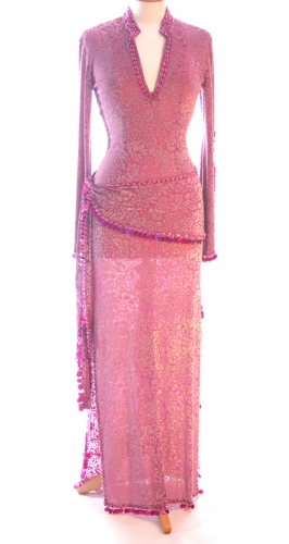 Belly dance sa'idi dress/galabia - Velvet Rose