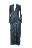 Belly dance sa'idi dress/galabia - Funky Print