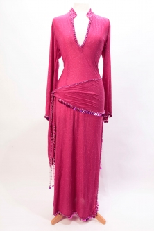 Belly dance sa'idi dress/galabia - Pink Sparkle