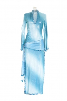 Belly dance sa'idi dress/galabia - Blue Sky Baby