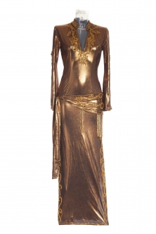 Belly dance sa'idi dress/galabia - Bronze Beauty