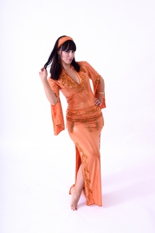 Belly dance sa'idi dress/galabia - Tangerine Dream