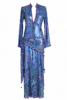 Belly dance sa'idi dress/galabia - Beautiful Blues