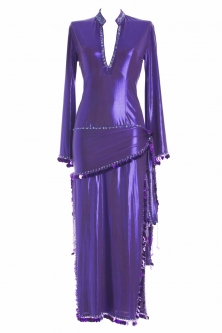 Belly dance sa'idi dress/galabia - Royal Purple