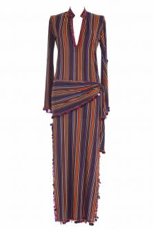 Belly dance sa'idi dress/galabia - Rich Stripe