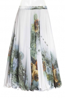 Belly dance superior printed skirt -  hot romance