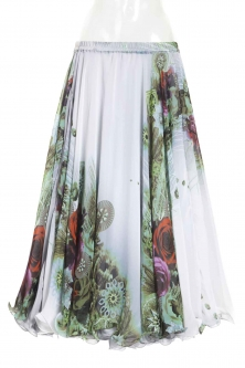 Belly dance superior printed skirt -  sweet romance