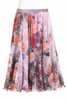 Belly dance superior printed skirt - dream delight