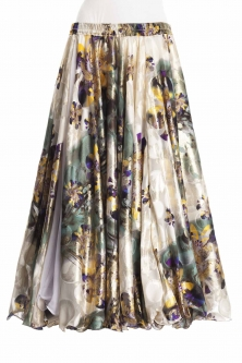 Belly dance superior printed skirt - luxury
