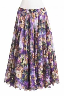 Belly dance superior printed skirt - midsummer muse