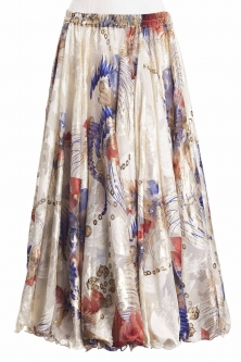 Belly dance superior printed skirt - orient