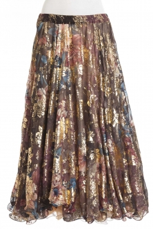 Belly dance superior printed skirt - renaissance