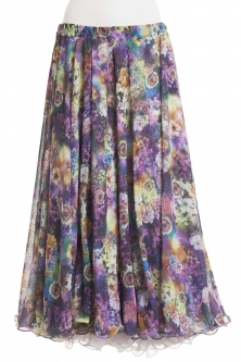 Belly dance superior printed skirt - viva flora