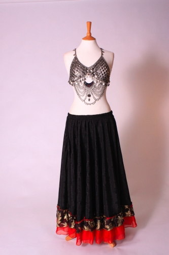 Tribal top - different colour half moon crescents available