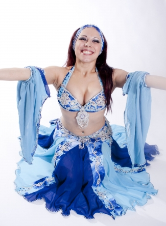 Belly dance cabaret costume - Atlantic Rose
