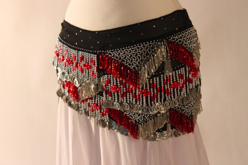 Chiffon rectangle belly dance belt
