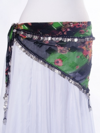 Coin edge triangles belly dance belt