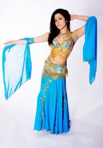 Couture belly dance costume - Samia Sky