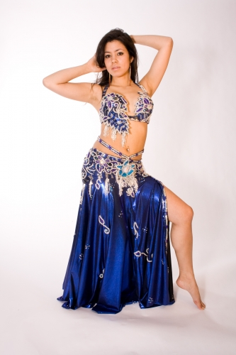 Couture belly dance costume - Cosmic Comet