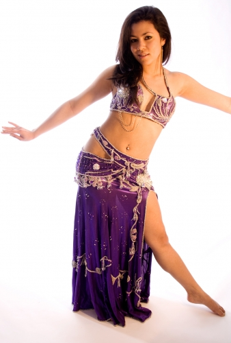Couture belly dance costume - Amethyst Angel