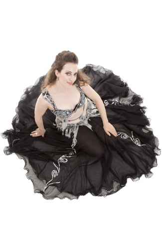 Couture belly dance costume - Angel of the Night