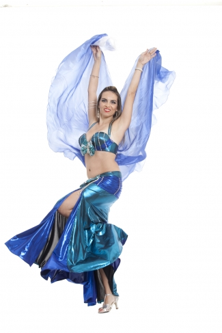 Couture belly dance costume - Pacific Princess