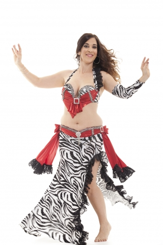 Couture belly dance costume - Zebra Queen
