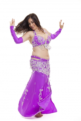 Couture belly dance costume - Heart
