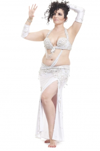 Couture belly dance costume - Bridal Babe