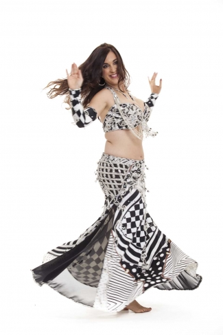 Couture belly dance costume - Game Player