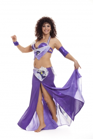 Couture belly dance costume -  Mauve Marvel