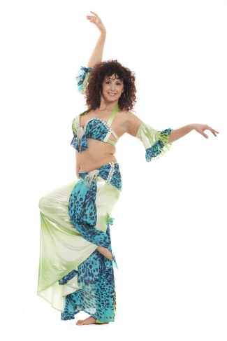 Couture belly dance costume - Jungle Dancer