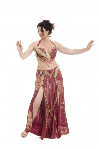 Couture belly dance costume - Royalty