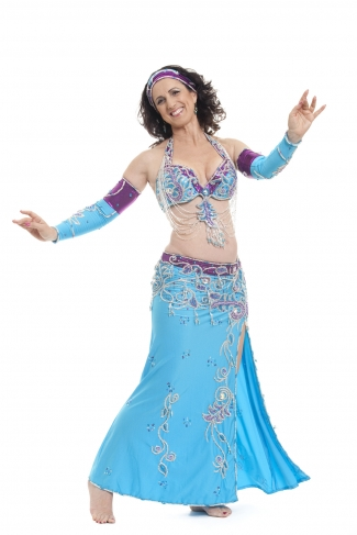 Couture belly dance costume - So Kiss Me