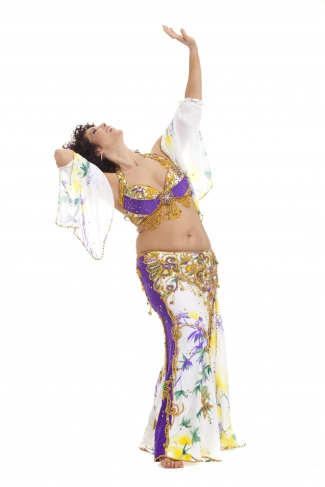 Couture belly dance costume - Hula Hula