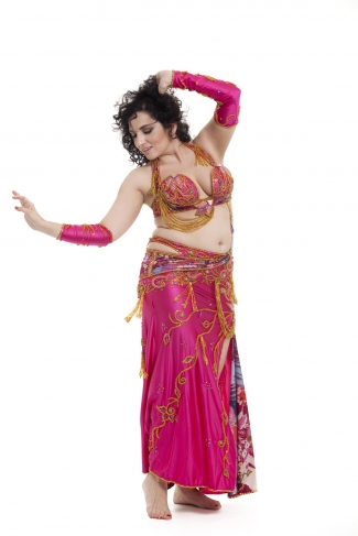 Couture belly dance costume - Candy Store