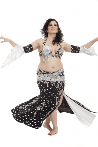 Couture belly dance costume - Miss Polka