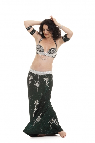 Couture belly dance costume - Diamonds Are Forever