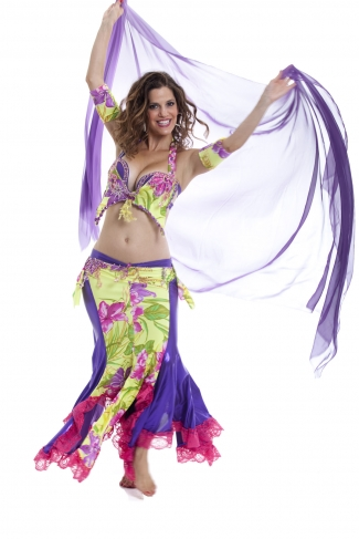 Couture belly dance costume - Spring Sweetheart