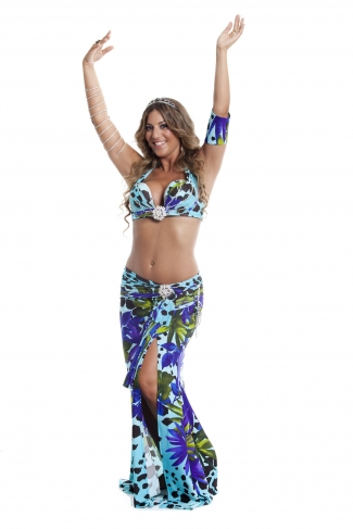 Couture belly dance costume - Jungle Jane