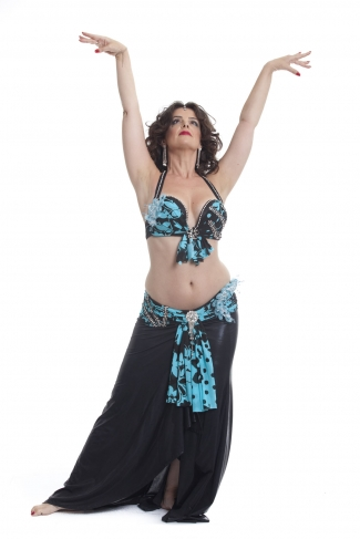 Couture belly dance costume -  Floral Fantastic!